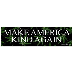 Make America Kind Again Bumper Sticker - [11'' x 3'']