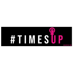 Time's Up Bumper Sticker - [11'' x 3'']