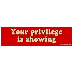 Your Priviledge is Showing Bumper Sticker - [11'' x 3'']