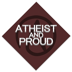 Atheist and Proud Bumper Sticker - [5'' x 5'']