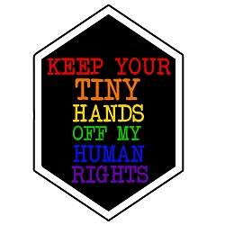 Keep Your Hands off My Rights Bumper Sticker - [3.5'' x 5'']