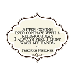 After Contact with Religious Man Must Wash Hands Bumper Sticker - [5'' x 4'']
