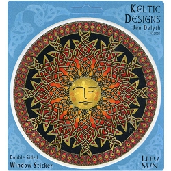 Lleu Sun Keltic Designs Translucent Window Sticker - [4.5