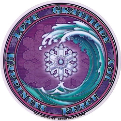 Healing Water Mandala Arts Translucent Window Sticker - [4.5