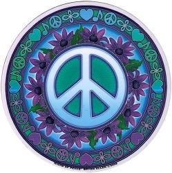 Signs of Peace Mandala Arts Translucent Window Sticker - [4.5