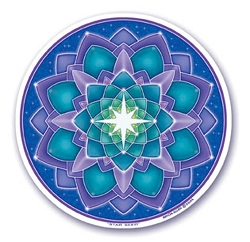 Star Seed Mandala Arts Translucent Window Sticker - [4.5'' Diameter]