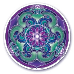 Nouveau Lotus Mandala Arts Translucent Window Sticker - [4.5