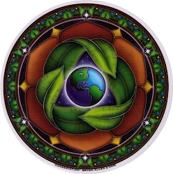 Conservation Mandala Arts Translucent Window Sticker - [4.5