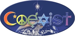 Rainbow Coexist Oval Earth Decal Window Sticker  - [6'' x 3'']