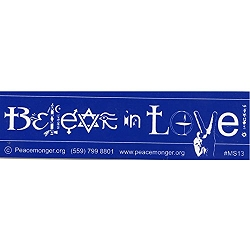 Believe in Love Symbol Glyph Bumper Sticker - [11'' x 3'']