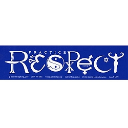 Practice Respect Goddess Bumper Sticker - [11'' x 3'']