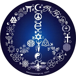 Coexist Peace Symbol Round Bumper Sticker - [5'' Diameter]