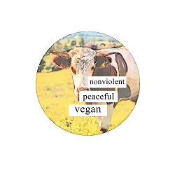 I Dream of a Nonviolent Peaceful World Therefore I Am Vegan 1.25