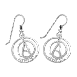 Circle Atheist Two Part Earrings - 3/4