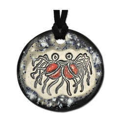 FSM Flying Spaghetti Monster Ceramic Necklace - 1.75