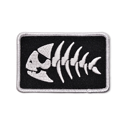 FSM Jolly Pirate Fish Embroidered Patch - 3.5