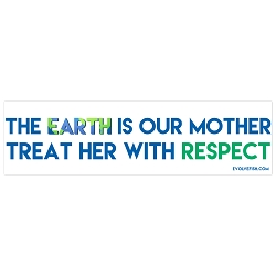 The Earth is Our Mother Treat Her with Respect Bumper Sticker 11