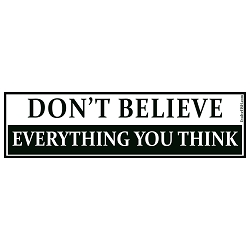 Don't Believe Everything You Think Bumper Sticker 11