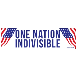 One Nation Indivisible Bumper Sticker 11