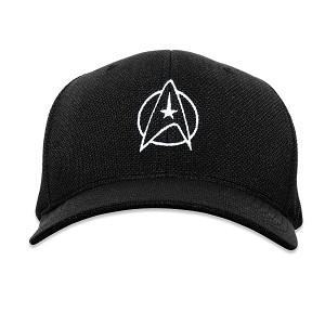ST Starfleet Insignia with Circle Flexfit Adult Cool & Dry Piqué Mesh Cap Hat