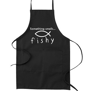 Something Smells Fishy Christian Fish Atheist Kitchen Apron