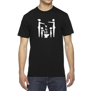 Flush Religion Men's Cotton Crew Neck T-Shirt