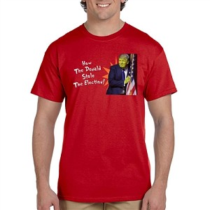 How the Donald Stole the Election Men's Cotton Crew Neck T-Shirt - [Red]