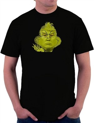 Donald Trump Grinch Face Men's Cotton Crew Neck T-Shirt