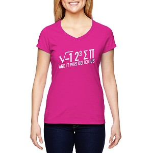 Pi Equation It was Delicious Women's Cotton V-Neck T-Shirt