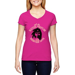 Ask the Native People about Christian Love Women's Cotton V-Neck T-Shirt