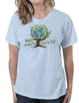 Make Every Day Earth Day Women's Cotton Crew Neck T-Shirt