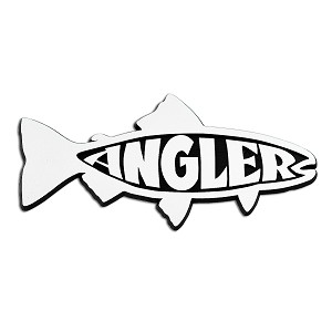 "Angler Trout Chrome Auto Emblem -  6"" x 2.5"""