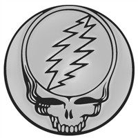"Grateful Dead 3"" Chrome Auto Emblem"