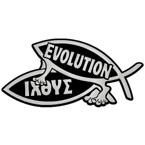 "Procreate Evolution & IXOYE Fish Chrome Auto Emblem - 5.25"" x 2.75"""