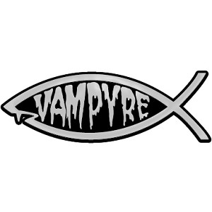 "Vampyre Fish Chrome Auto Emblem - 5.25"" x 1.75"""