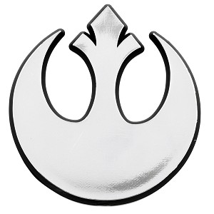 "SW Rebel Alliance Logo Chrome Auto Emblem - 3"" x 3"""