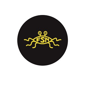 "FSM Flying Spaghetti Monster 1.25"" Pinback Button"