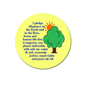 "I Pledge Allegiance to the Earth Pinback Button - [1.25"" Diameter]"