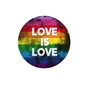 "Love is Love 1.25"" Pinback Button"