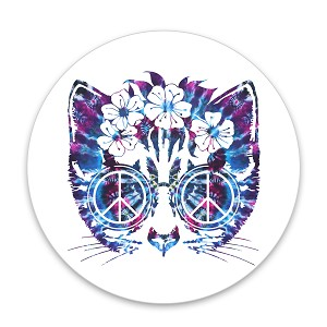 "Peace Cat 1.25"" Pinback Button"