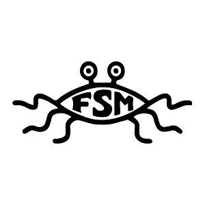 FSM Flying Spaghetti Monster Weatherproof Vinyl Decal