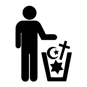 Trash Religion Weatherproof Vinyl Decal