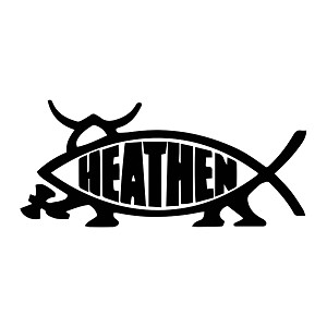 Heathen Fish Vinyl Decal