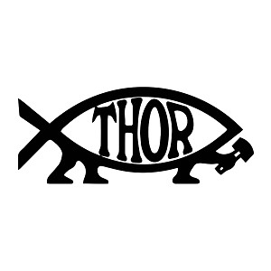 Thor Fish Weatherproof Vinyl Decal