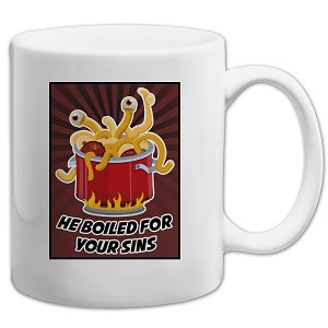 FSM Flying Spaghetti Monster He Boiled for Your Sins 11 oz. Coffee Mug