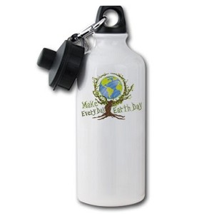 Make Every Day Earth Day Aluminum Water Bottle - [20 oz.]