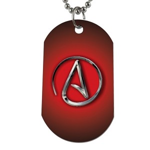 "Circle A for Atheist Dog Tag - 2"" Tall"