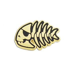 "FSM Jolly Pirate Fish Lapel Pin - [1"" Wide]"