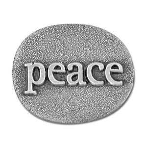 Peace Antique Silver Lapel Pin