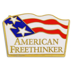 "American Free Thinker Lapel Pin - [7/8"" Wide]"